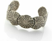 Sterling Silver Sand Dollar Cuff Bracelet