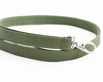 NEW! Olive Green Fabric Lanyard - Long Skinny ID Strap for Keys - Teacher ID Badge Lanyard - Cute Solid Colored Lanyard - 1/2 Inch Wide
