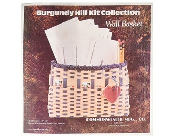 Commonwealth Basket Burgundy Hill Basket Kits Gift Basket 3-1//2-Inch by 6-1//2-Inch by 3-Inch