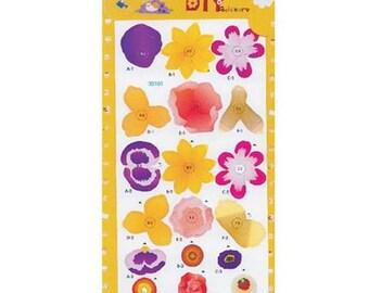 Flowers 3D Build-It Sticker Kit (fdp3dbuilditflowers)