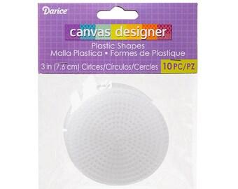 Darice Plastic Canvas #7 Circle - 3 Inch - 10pcs (dar33005)