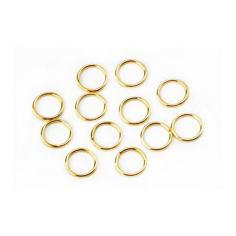 8mm Gold Jump Ring 18 Gauge #RJE028