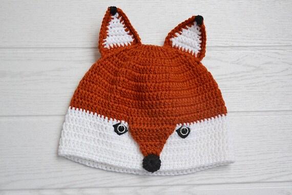 Häkeln Sie Fuchs Mütze Gehäkelte Kitsune Hut Tier Mütze Für Etsy
