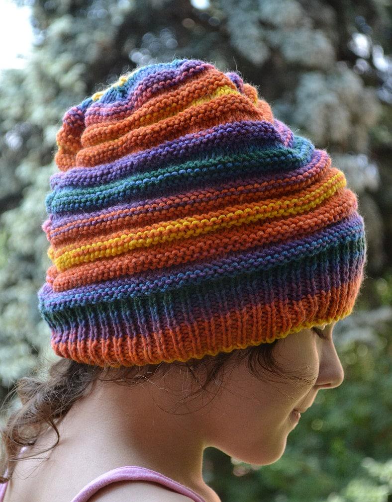 06c9d3c00e377 Multicolor beanie orange blue purple green yellow