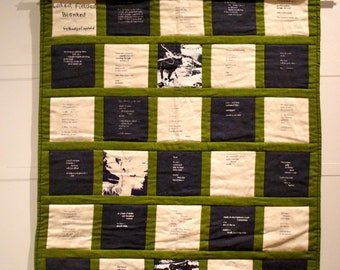 LAKED, FIELDED, BLANKED (art book/quilt) by Brooklyn Copeland