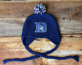 96883306d6412 Duke Blue Devils Hat - Newborn baby toddler infant child knit hat photo  prop coming going home outfit stocking hat cap baby shower gift