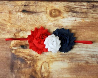 July 4th Headband or Hair Clip - 4th of July Newborn baby toddler child girls infant adult red white blue Fourth of July Independence Day