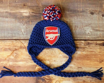 3c7abb7ef02d8 Arsenal Football Club Stocking Hat - Newborn to Child Baby Toddler infant  Gunners Gooners soccer knit hat beanie baby gift photo prop outfit
