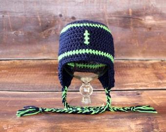 Seattle Seahawks Hat - Newborn baby toddler infant child cap Notre Dame  Fighting Irish navy blue green 92299f1c9931