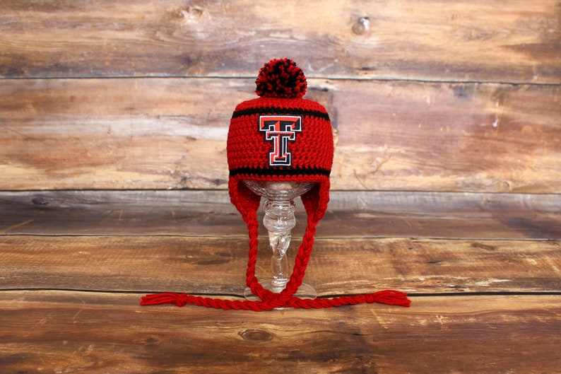 Texas Tech Red Raiders Hat - Newborn baby toddler infant child TT Red  Raiders knit hat photo prop coming going home outfit stocking hat cap