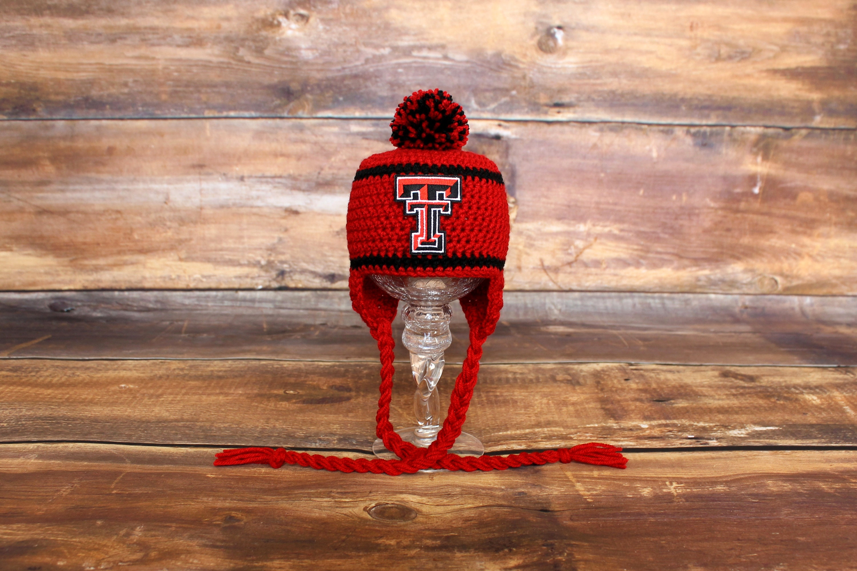 6c8f47e5 Texas Tech Red Raiders Hat - Newborn baby toddler infant child TT Red  Raiders knit hat photo prop coming going home outfit stocking hat cap