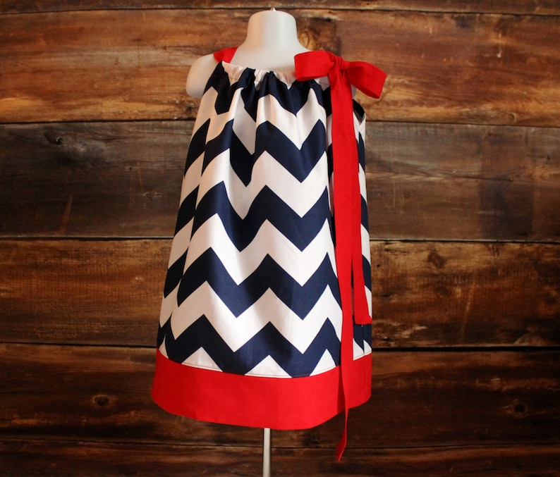 7ef28711 Navy Red Dress - Newborn baby girls pillowcase dress toddler infant child  Houston Texans New England Patriots Buffalo Bills game day outfit