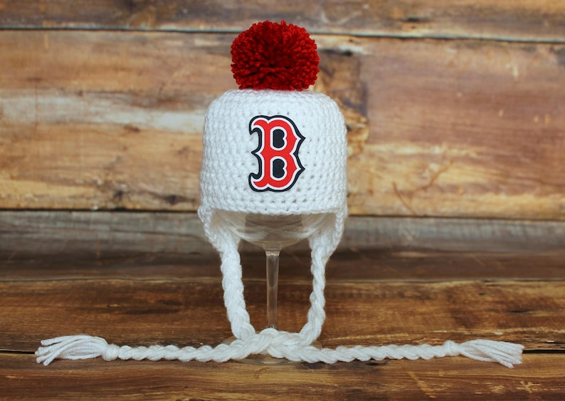 900eacbe3 Boston Red Sox Hat - Newborn baby toddler infant child Red Socks hat  stocking hat cap knit hat white red baseball photo shoot prop birthday