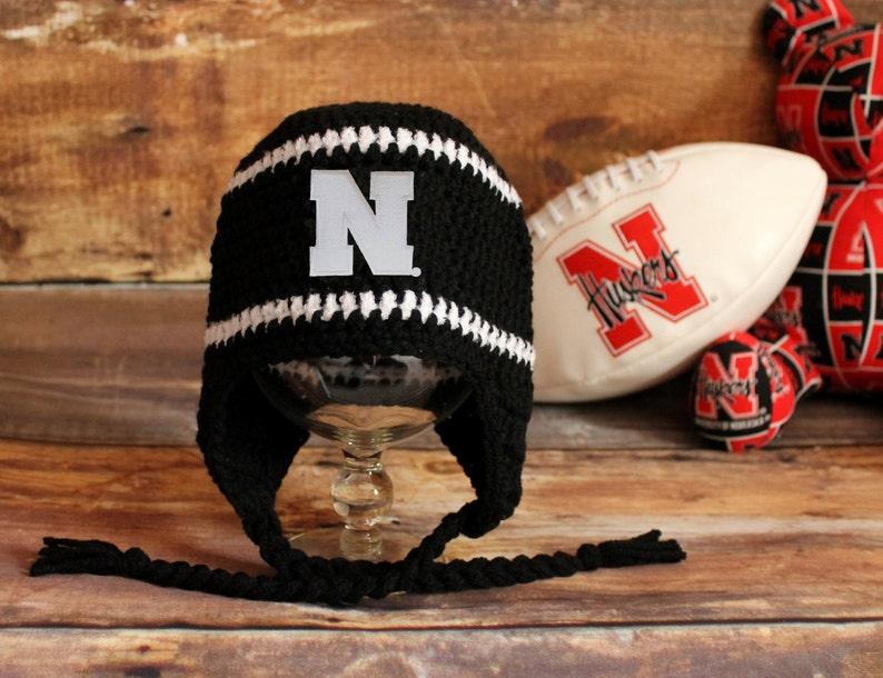 b80ee3c04 Nebraska Huskers Hat - Newborn baby toddler child Husker stocking hat  infant kids knit stocking cap Blackshirts Cornhuskers Vintage N patch