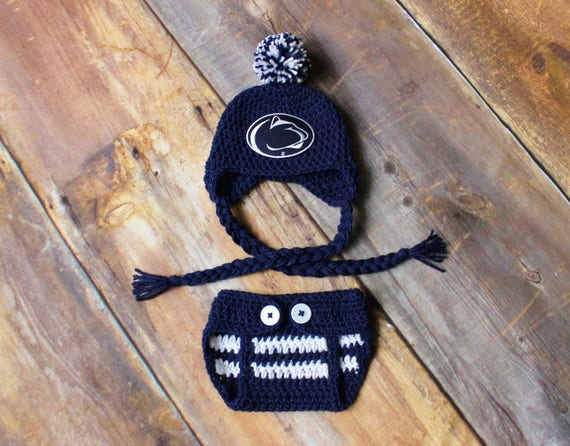 Penn State Hat and Diaper Cover Outfit Newborn baby toddler  016a98949b9