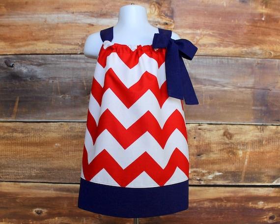 13169cbaf Red Chevron Dress Newborn to Child 11 12 girls pillowcase