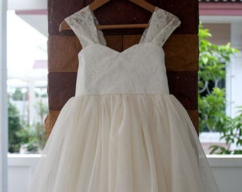 a1d5f52682b flower girl dresses wedding Lace flower girl dress Ivory lace flower girl  Flower girl dress lace gifts for her