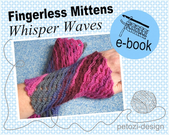 HAEKELMUSTER Lace Stulpen Whisper Waves eBook Kettmaschen | Etsy