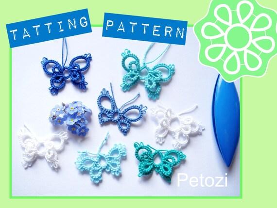 Schmetterling MINIMI Original Occhi PDF Muster Frivolite   Etsy