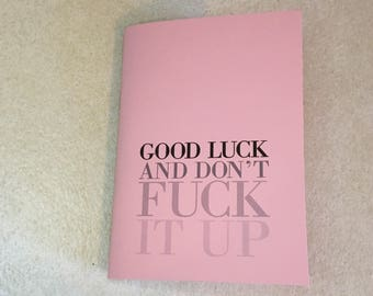 Mini Notebook // Good Luck