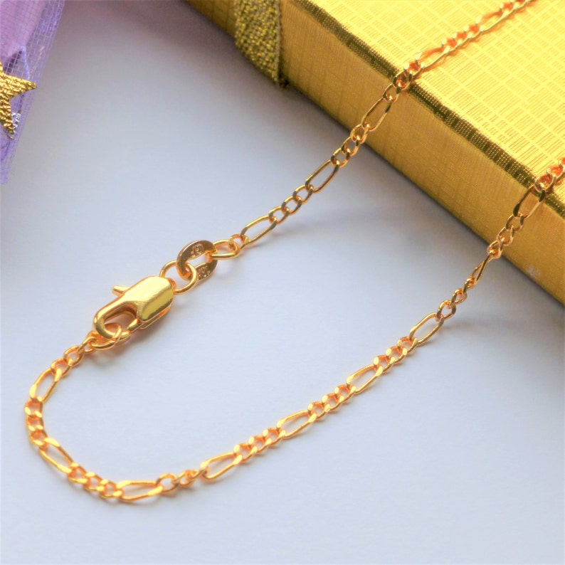 24K Gold Filled Stainless Steel Box Necklace Chain 50cm Length 2.5mm Width