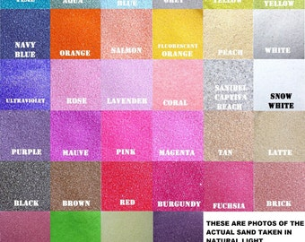 Colored Sand ~ Various Sizes Available ~ 150+ Colors Available for Unity Ceremony ~ Wedding Sand ~ Unity Sand ~ One color per bag