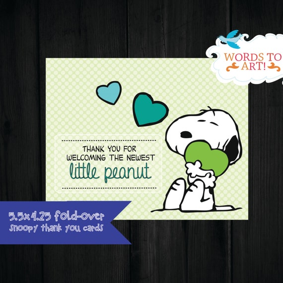INSTANT DOWNLOAD | Snoopy Matching Thank you Cards by Words
