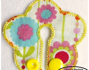 G Tube Pad Flower Machine Embroidery File in pes, dst, exp, vip, jef, hus and vp3 Formats - Instant Download