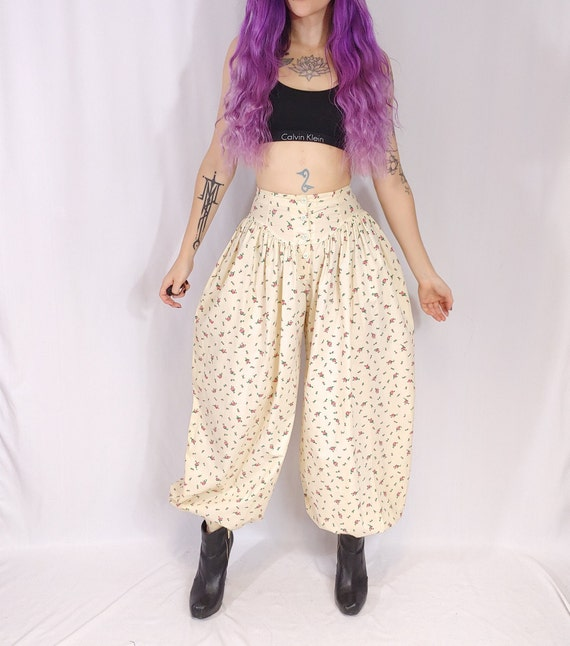 Vtg 80s Betsey Johnson Punk Label High Waist Ivory