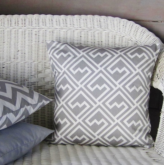 Gray Pillow Cover Decorative Throw Accent Sofa Bed Pillow Etsy Magnificent Gray Decorative Bed Pillows