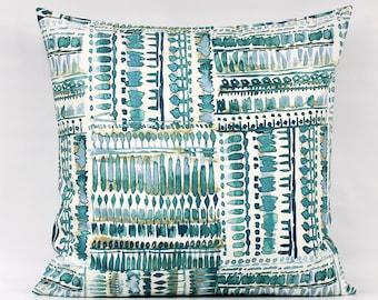 Teal Pillow Covers, Teal Modern Pillow, Teal Tan Pillow, Teal Accent Pillow, Teal Throw Pillows, Peacock Pillows, Teal Pillows, Zipper