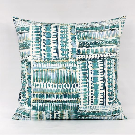 Teal Pillow Covers Teal Modern Pillow Teal Tan Pillow Teal  c38d69cb5a71