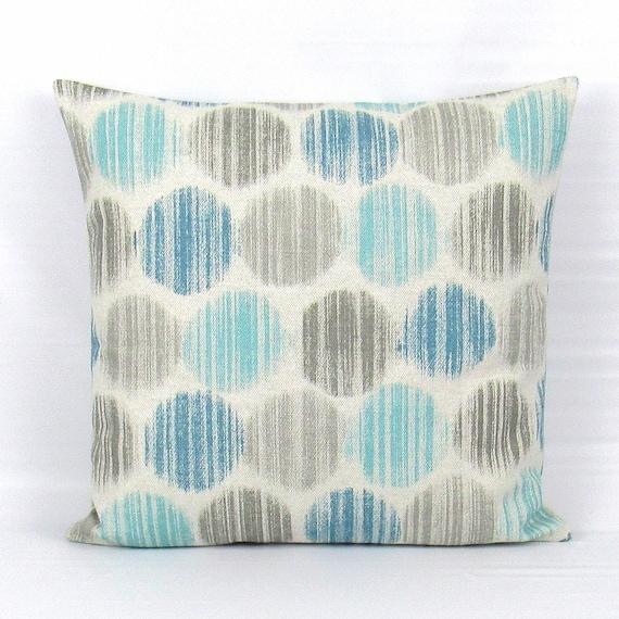 Aqua Pillow Cover Aqua Throw Pillow
