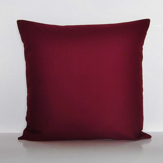 Burgundy Pillow Cover Decorative Throw Accent Pillow Couch