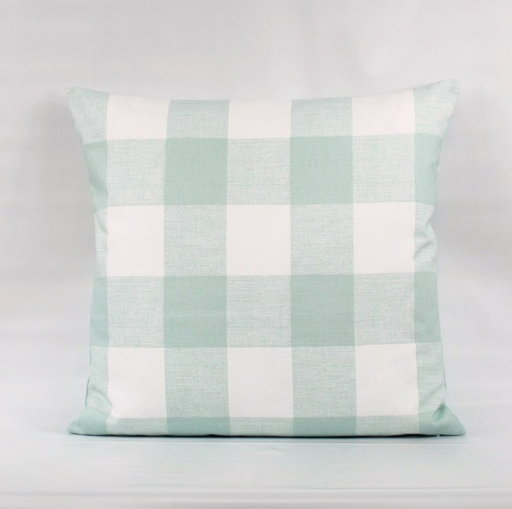 Sage Green Buffalo Plaid Pillow Cover