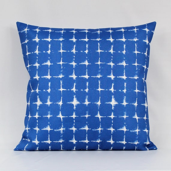 Royal Blue Outdoor Pillow Cover Blue Outdoor Cushion Cobalt Etsy