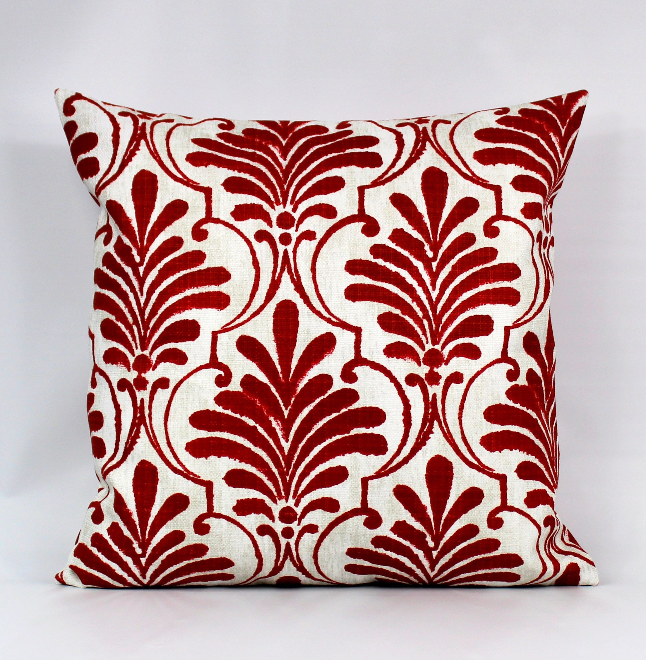 Red Outdoor Pillow Burgundy Throw Pillows Red White Outdoor Etsy