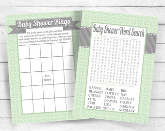 Printable BRIDAL Shower Games Set  Navy blue and Coral  Bingo Word Search How well do you know the Bride Quiz Cards  INSTANT DOWNLOAD