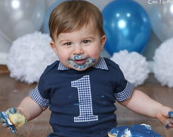 Baby Boy First Birthday Outfit - Cake Smash Outfit - Boys Cake Smash Outfit - First Birthday Outfit - Toddler Birthday Shirt - Boy Birthday