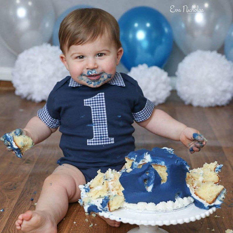 First Birthday Outfit Boy Cake Smash Boys