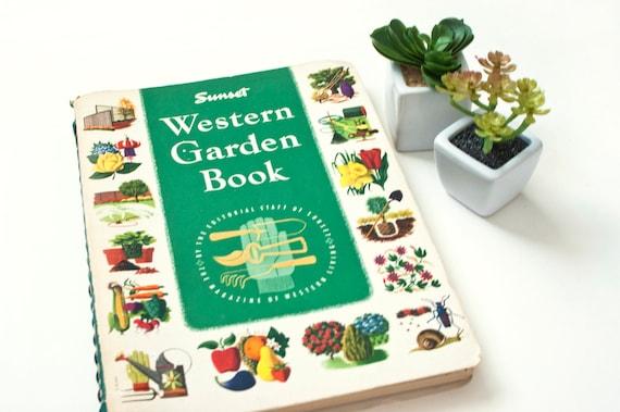 Vintage 1960s Sunset Western Garden Book 2nd Edition   Etsy