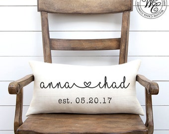 Wedding Gift, Wedding Gifts, Personalized Pillow, Newlywed Gift, Engagement Gift, Gift, Gift for couple, Burlap Pillow, Gift for bride