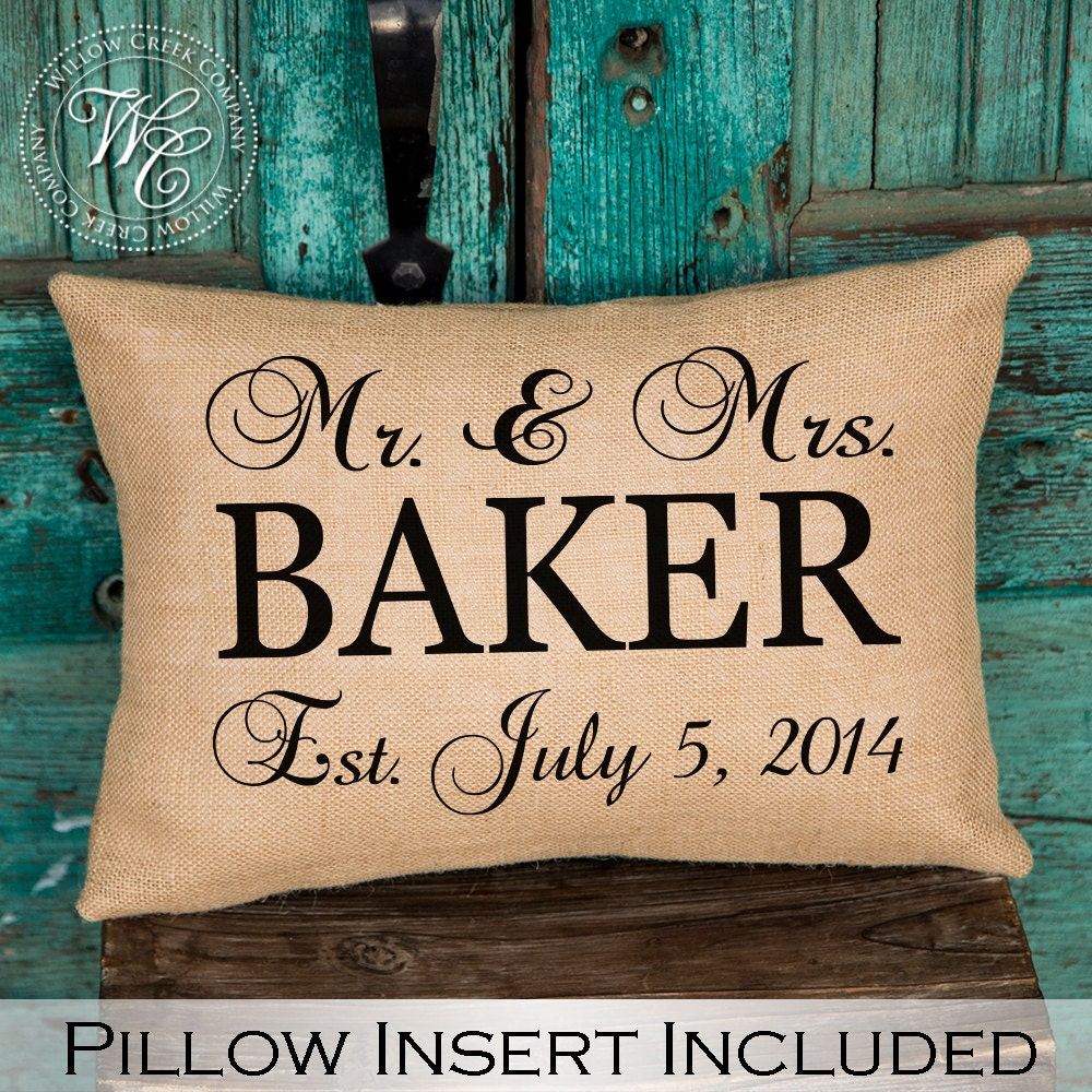 Gift For Sister In Law Wedding: Sister In Law Gift Keepsake Pillow Established Date