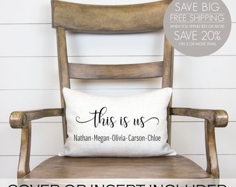 This is us pillow, This is us decor, This is us, Anniversary gift, Family room decor, Living room decor, Dining room decor, Bedroom decor