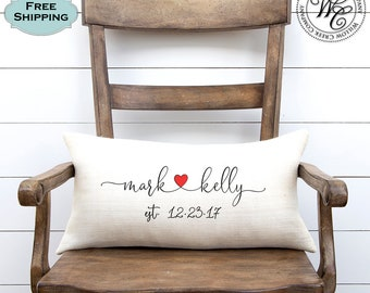 anniversary gift, anniversary pillow, wedding gift, Wedding Gifts, Newlywed Gift, Engagement Gift, Rustic Wedding Gift, Personalized gift