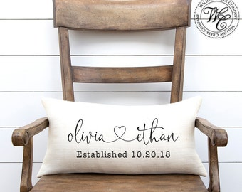 Engagement gift, Wedding gift, gift for bride, Wedding Gifts, Wedding Gifts for Couple, Personalized Pillow, Personalized Wedding Gift