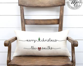 Christmas Gifts, Christmas gift, Christmas decor, Christmas Pillow, Gift for her, Gift for wife, personalized pillow, personalized gift
