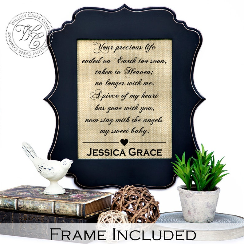 Miscarriage Gift pregnancy loss in memory of child baby image 0