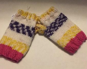 Fingerless gloves - Bright Stripes KIDS SIZE