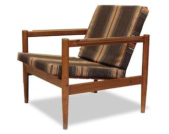 Danish Modern Borge Jensen TEAK CHAIR: Original Vintage 1960u0027s Mid Century  Lounge Accent Side Seating Solid Wood Stamped By Manufacturer